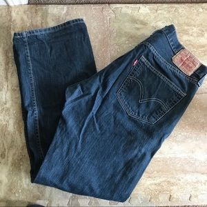 Other - Levi's 501 36x32 straight fit dark wash buttonfly
